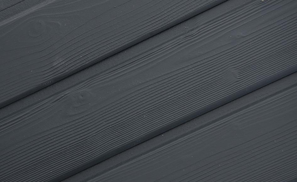Bardage bois authentique avec clouage visible raboterie for Luminaire exterieur ral 7016